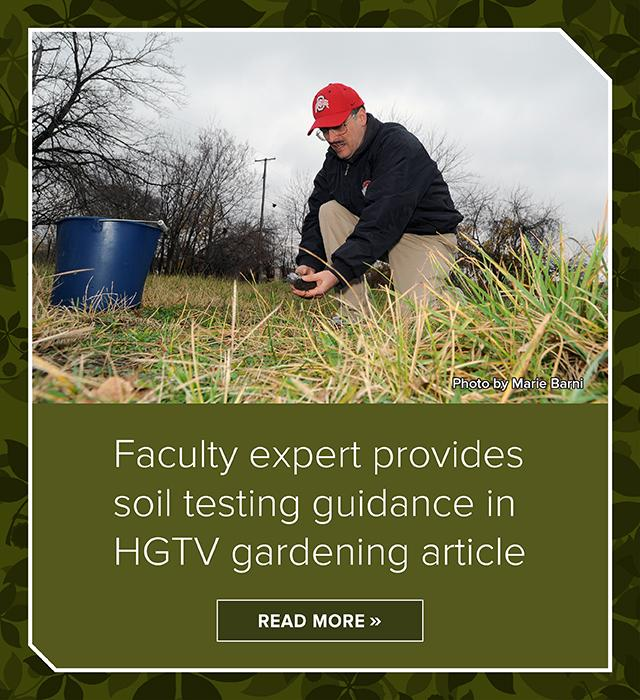 Faculty expert provides soil testing guidance in HGTV article