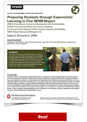 Preparing Students through Experiential Learning in Five SENR Majors