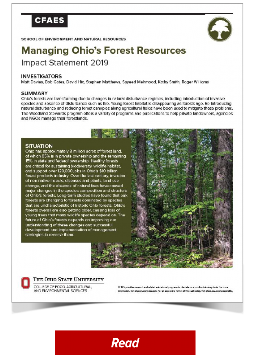 Managing Ohio's Forest Resources
