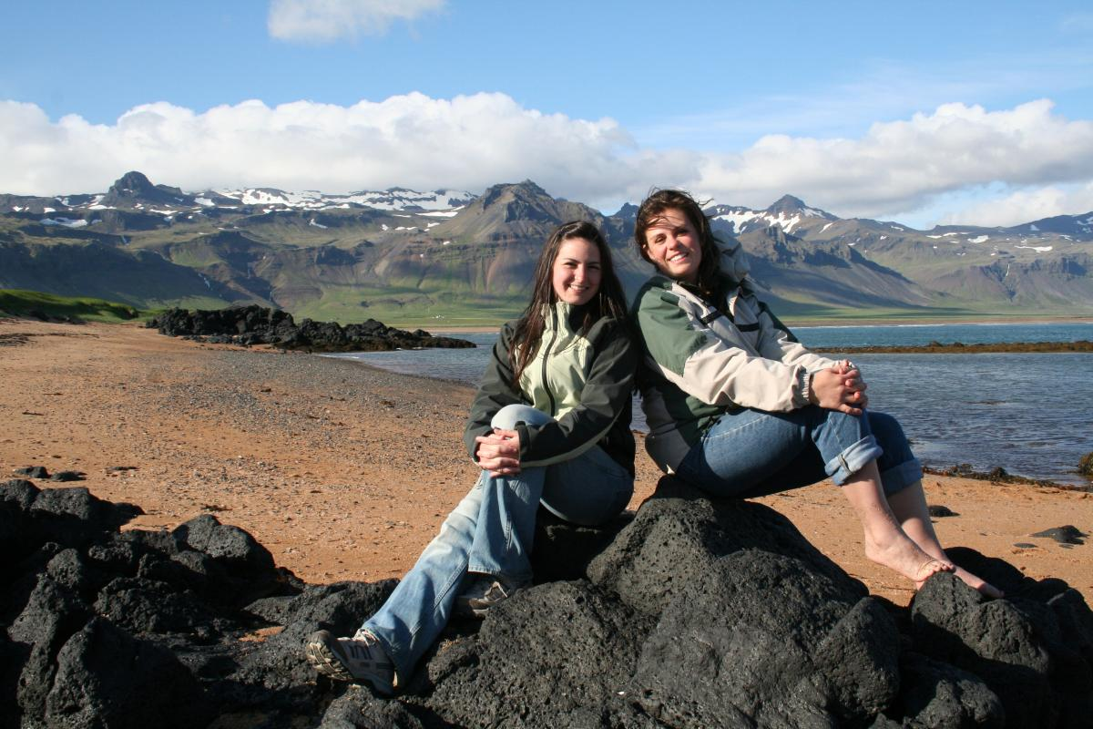 Students on the Iceland study abroad trip