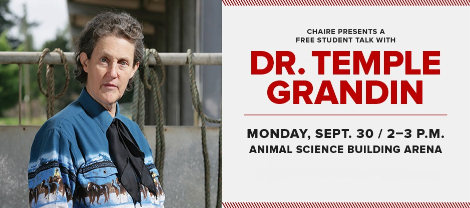 Student talk with Dr. Temple Grandin, September 30