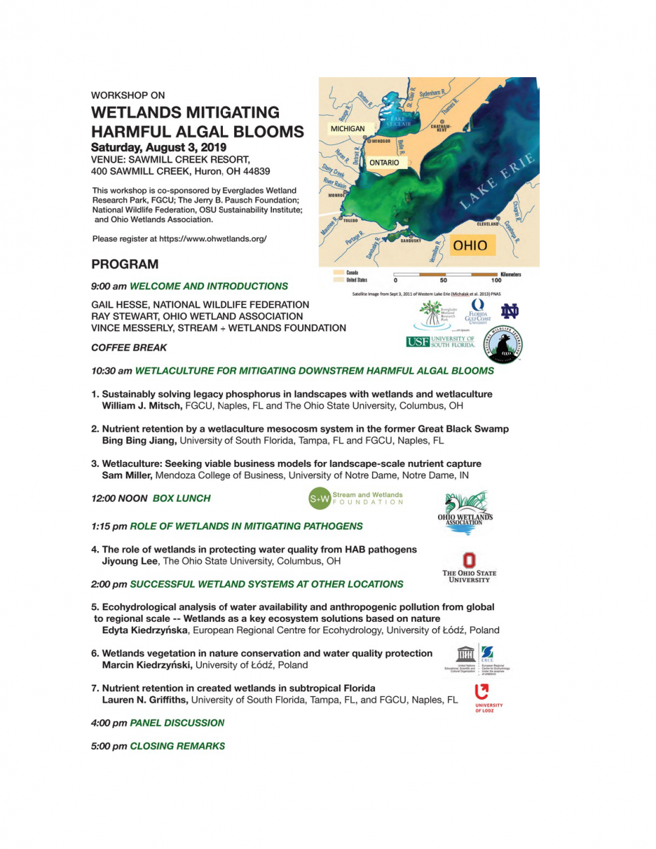Workshop on Wetlands Mitigating Harmful Algal Blooms