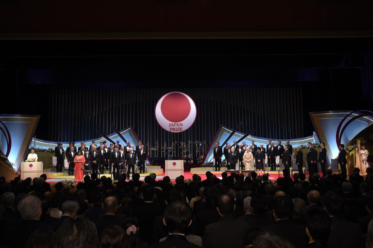 Presentation Ceremony at National Theatre of Japan for the 2019 Japan Prize. Photo credit: The Japan Prize Foundation.