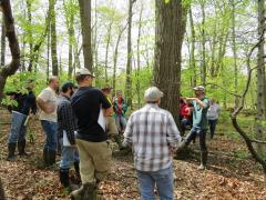 ENR 4900.02 students learning about soils with Dr. Davies