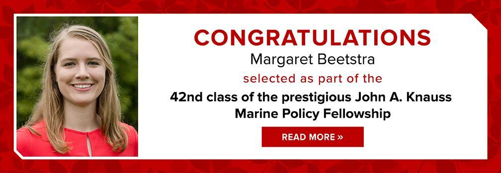Congratulations Margaret Beetstra