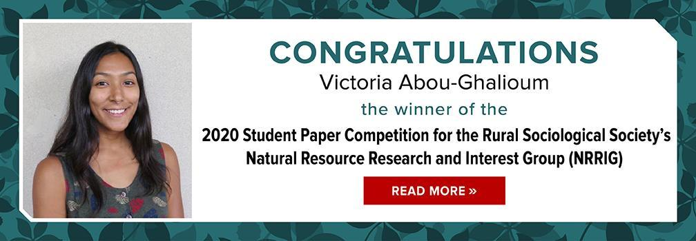 2020 RSS NRRIG Student Paper Award Winner