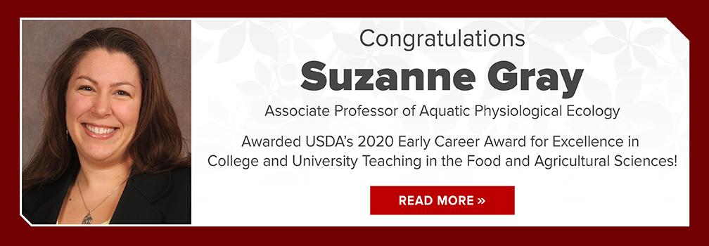 Congratulations Suzanne Gray