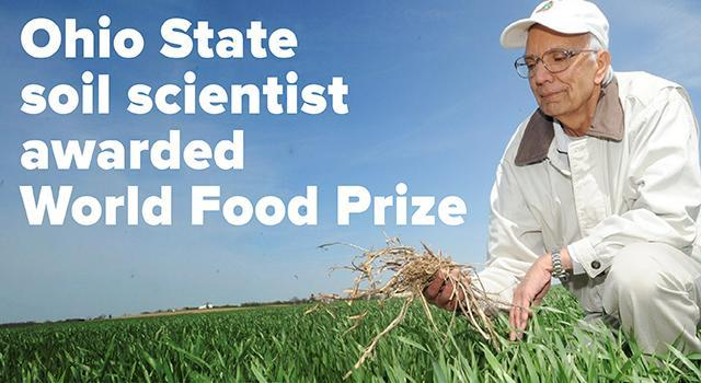 Rattan Lal has been awarded the 2020 World Food Prize. Photo: Ken Chamberlain, CFAES