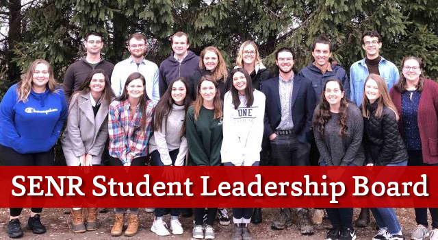 SENR Student Leadership Board members