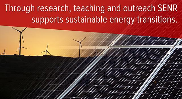 Through research, teaching and outreach SENR supports sustainable energy transitions.