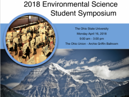 On April 16, the 6th Annual Environmental Science Student Symposium will feature more than 350 posters.