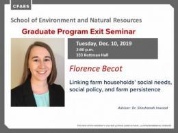 Florence Becot Graduate Program Exit Seminar