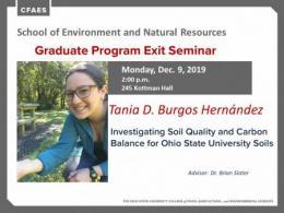 Tania D. Burgos Hernández Graduate Program Exit Seminar