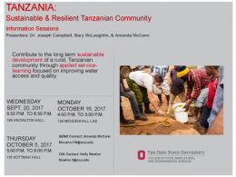 Sustainable & Resilient Tanzanian Community Information Sessions Offered