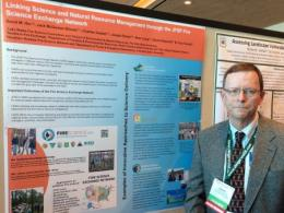 David Hix presented a poster highlighting the Joint Fire Science Program's Fire Science National Knowledge Exchange Network.  Faculty and staff from SENR, including David Hix, Eric Toman, Jack McGowan-Stinski, and Charles Goebel help lead the Lake States Fire Science Consortium (LSFSC), a group of over 525 fire managers, practitioners, and scientists.  The objective of the LSFSC is to help communicate the best available fire science and do so through a variety of methods including webinars, research briefs,