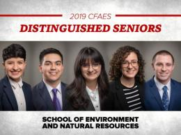 2019 CFAES Distinguished Seniors