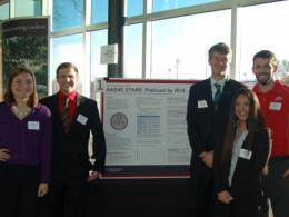 Student research teams presented their final capstone projects at April's Environmental Professionals Network breakfast (Photo by Hannah Kirby)