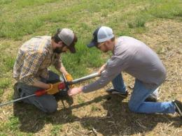 Steve Culman, assistant professor of soil fertility, The Ohio State University (shown left)is a recipient of the second annual New Innovator in Food and Agriculture Research award.
