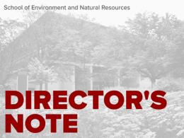 SENR Director's Note for June 2021 (Kottman Hall in the background)