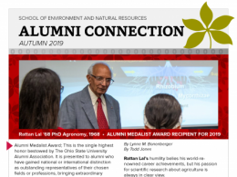 Read more about the happenings of the School of Environment and Natural Resources Alumni Society (ENRAS) in the latest edition of the Alumni Connection.