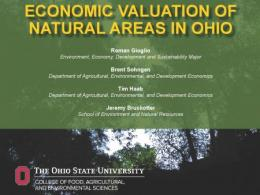 "New report estimates the ""value"" of outdoor recreation in Ohio."