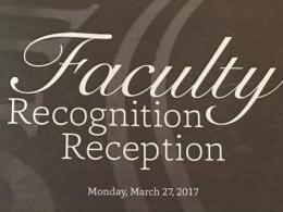 Recognition reception honors faculty at Ohio State.
