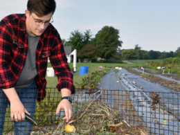 EEDS student Mike Fackler (shown) to launch business to pickup food waste for compost.