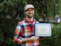 Graduate student Joshua T. Fergen is the recipient of the 2019 Leslie Hewes Award.