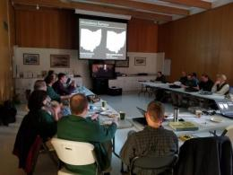 Bird-based Habitat Conservation Workshop with the Upper Mississippi River and Great Lakes Region Joint Venture Science Office.