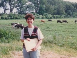 Associate Professor Kristi Lekies collecting data in Germany in 1999.