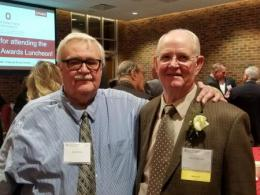 Professor James Kinder with Professor Emeritus Jerry Bigham at the 2020 CFAES Alumni Society Awards Luncheon.