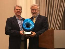 Emeritus Professor Bill Mitsch Receives Odum Award for Ecological Engineering Excellence in Houston,Texas.