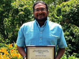 Nall Moonilall received the 2019 NACTA Graduate Student Teaching Award.