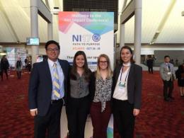 Ohio State students attend national Net Impact conference (left to right:  Tim Cho, Taylor Racela, Sarah Fischer and Kathleen Fillingim).