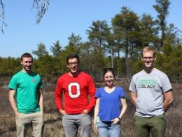 The Ohio State University Chapter of The Fish and Wildlife Society visited the U.S. Fish and Wildlife Service's Kirtland's Warbler Wildlife Management Area in the northern Lower Peninsula of Michigan.
