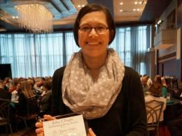 Lauren Pintor, assistant professor of aquatic ecology in the SENR is the 2017 recipient of the Rodney F. Plimpton Teaching Award. (Photo credit: Renee Johnston)