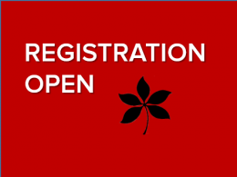 Registration is open for the 2017 Ohio Environmental Leaders Institute
