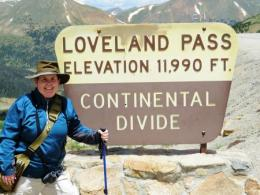 SENR doctoral student Sarah Rose on the Mid-Congress Elevation Excursion to Loveland Pass at the 20th International Congress of Arachnology, Golden, CO.