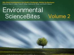 A second volume of Environmental ScienceBites written by undergraduate students at The Ohio State University is now available on Apple iBooks.
