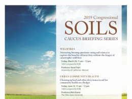 Professor Basta was selected to deliver one of the four presentations at the Soil Science Society of America's 2019 Congressional Soils Caucus Briefings in Washington, DC.