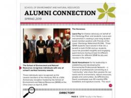 Spring 2019 Alumni Connection Newsletter available.