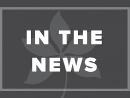Image of a Buckeye Leaf set behind text - In the News