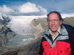 Climatologist Lonnie Thompson, pictured at the Qori Kalis Glacier in the Peruvian Andes in 2000, will speak at Ohio State Jan. 12. (Photo: Lonnie Thompson/Ohio State.)