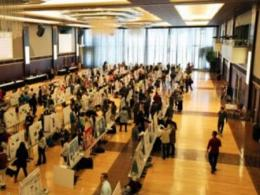 Nearly 1,000 Ohio State students have prepared scientific posters for the 2017 Environmental Science Student Symposium. Shown here is a scene from 2013's event. (Photo: Molly Bean, SENR.)