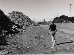 Dr. Kerry Ard at a superfund site in the San Francisco Bay Area in California.