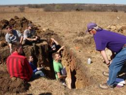 The Soil Judging Team at Ohio State Competes in National Soil Judging Contest, Manhattan, KS.