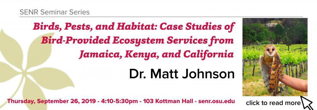 Join us for the September 26 SENR Seminar Series.